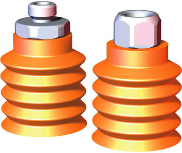 Destaco's VC-BM Series of micro, round multi-bellows vacuum cups are used on dry, angled, curved, and bumpy surfaces.