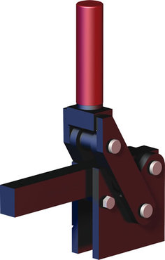 Destaco's 578 Series heavy-duty, vertical hold down clamps feature hardened steel pins and bushings for long life, large bar guides for greater lateral stability, and replaceable pins.
