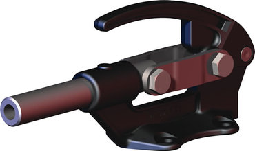 Destaco's 650 Series straight line action clamps are designed for heavy duty push/pull clamping and to allow the handle to rotate and fall below the mounting plane to lock in retracted position.