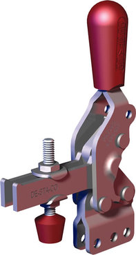 Steel toggle clamp with 3 times the capacity of our legacy models with a longer handle with greater hand clearance, straight base, and U-bar.