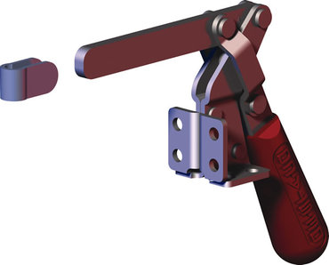 Destaco's 317 vertical hold down clamps feature dual mounting flexibility, large bar opening angle, and U-bar.
