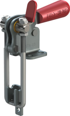 Destaco's 334 Series pull action latch clamps are equipped with latch plate and patented thumb control lever for one handed operation.