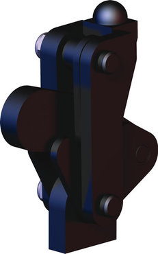 Destaco's 506-MB Series vertical, weldable hold down toggle locking clamps feature a modular design, weldable clamping arm, and swivel base.