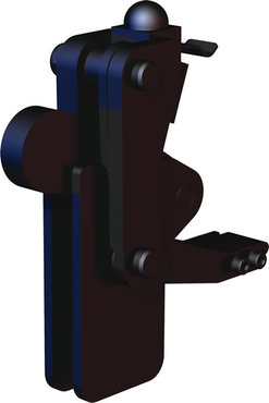 Destaco's 506-MLBLSC Series vertical, weldable hold down toggle locking clamps feature a modular design, weldable clamping arm, and long base with locking spring clip.