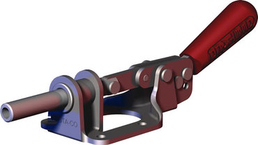 Destaco's 615 Series straight line action clamps feature reverse handle action and a plunger that locks in the extended position as the handle is moved downward.