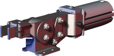 Destaco's 8021 pneumatic toggle clamps feature enclosed design for dirty environments such as spot and MIG welding, non-pivoting cylinder that can be hard-piped into fixtures, and are sensor ready for round or T-slot style sensors.