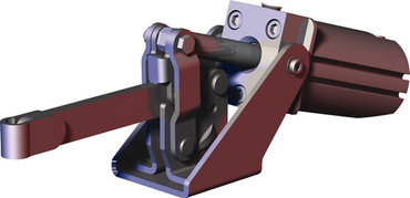 Destaco's 807-s Series pneumatic hold down clamps feature sensor ready for round or T-slot style sensors, built-in flow restriction that eliminates the need for external flow controls, and function as the pneumatic version of the Series 207 manual clamps.