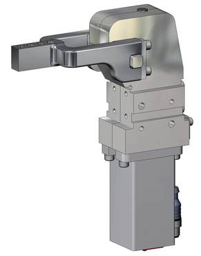 Destaco's 82L-2 Series pneumatic clamps feature a lightweight design, two mounting areas (front and back), and a Toggle-locking mechanism.