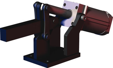 Destaco's 850 Series pneumatic hold down clamps feature hardened pins/bushing at all pivot points for long lifecycle.