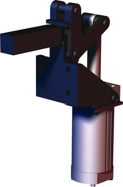 Destaco's 868 Series pneumatic toggle clamps feature hardened pins/bushing at all pivot points for long lifecycle.