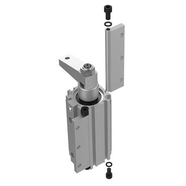 Destaco's 9500 Series pneumatic swing clamps arm are designed with flexible mounting options and an additional size with a larger bore.
