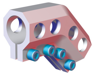 "Destaco's CPI-DC-1515-45 Series of elbow brackets are designed to connect two 1.50"" tubes together."