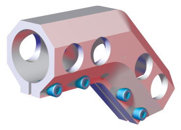 "Destaco's CPI-DC-2525-45 Series of elbow brackets are designed to connect two 2.50"" tubes together."