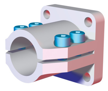 "Destaco's CPI-CLM-10-15F Series of end flange mounts are designed for 1.00"" tubes."