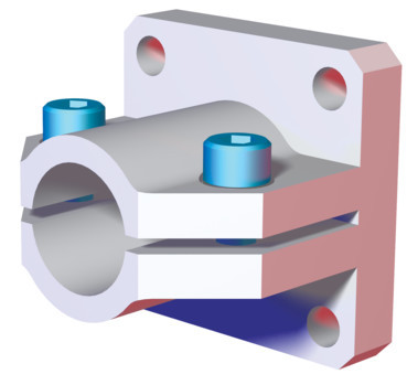 Destaco's CPI-CLM-20M-15F Series of end flange mounts are designed for 20 mm tubes.