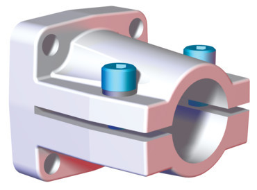 Destaco's CPI-KL-40-60F Series of end flange mounts are designed for 40 mm tubes.