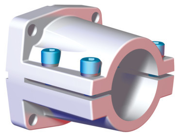 Destaco's CPI-KL-40-78F Series of end flange mounts are designed for 40 mm tubes.