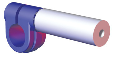 Destaco's CPI-ES25-25 Series of rod end extensions are designed for 25 mm rod end extension mounts to 25 mm round tubes.