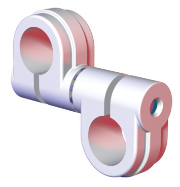 "Destaco's CPI-SA10-100-100-02 Series of single bolt swivel arms are 1.00"" tubes."