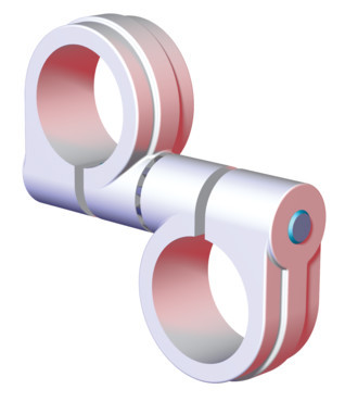 "Destaco's CPI-SA10-150-150-02 Series of single bolt swivel arms are used to mount 1.50"" tubes to 1.50"" tubes."