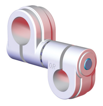 "Destaco's CPI-SA10-100-075-02 Series of single bolt swivel arms are used to mount 0.75"" tubes to 1.00"" tubes."