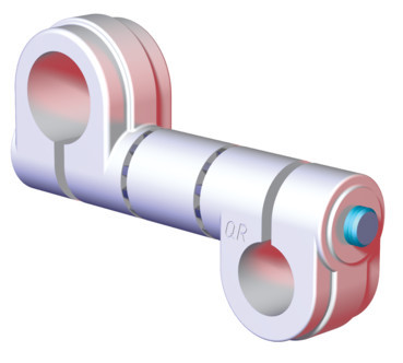 "Destaco's CPI-SA10-100-075-03 Series of single bolt swivel arms are used to mount 0.75"" tubes to 1.00"" tubes."
