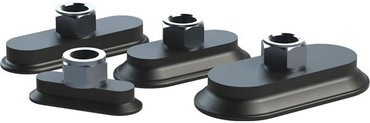 Destaco's MFF Series of oval, flatfoot vacuum cups are designed for high temperature, hot form stamping applications.