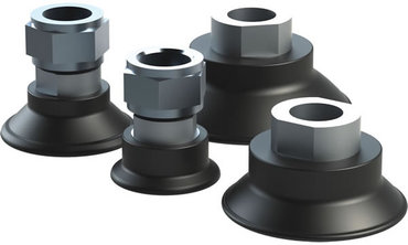 Destaco's MFF Series of round, flatfoot vacuum cups are designed for high temperature, hot form stamping applications.