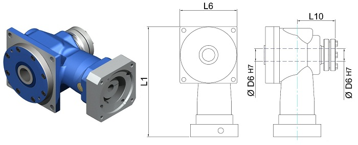 Gear Reducers | Right-Angle | DL-DH-055-050H
