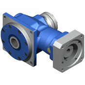 Right-Angle hypoid and planetary gearboxes with hollow bore output shaft.  Low cost hypoid.