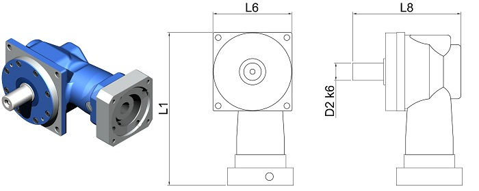 Gear Reducers | Right-Angle | DL-DW-055-025G