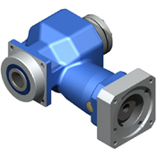 Right-Angle hypoid gearbox.  Hollow bore output shaft. Low cost hypoid.