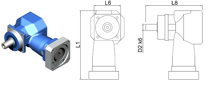 Gear Reducers | Right-Angle | DL-PW-055-100H