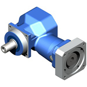 Right-Angle hypoid gearbox.  Drop-in for other right angle and inline gearboxes.  Low cost hypoid.