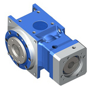 Right-angle hypoid gearbox with flange output shaft