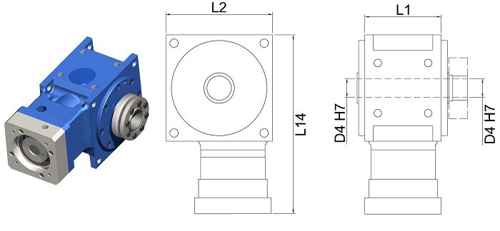 DS-HB-090-030A Right Angle Hypoid Gear Reducer