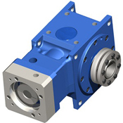 Right-Angle hypoid gearbox.  Hollow bore output shaft.  For dynamic servo applications.