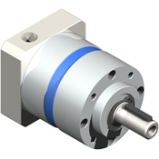 Inline planetary gearbox with straight tooth gearing.  Metric shaft output.  High quality all-purpose gearbox.