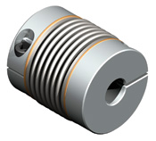 Bellows coupling  designed for dynamic servo applications.  Torsionally stiff