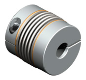 Bellows coupling designed for dynamic servo applications.  Shorter length with high torsional stiffness.