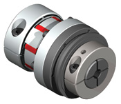 Direct drive safety coupling with elastomer attachment for excellent dampening capabilities