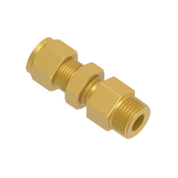 CBMC-4-2N-BRAS Tube To Pipe Bulkhead Male Connector