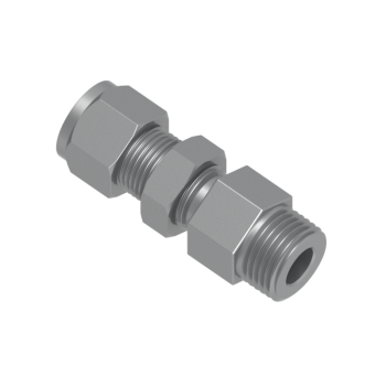 CBMC-4-4N-STEL Tube To Pipe Bulkhead Male Connector
