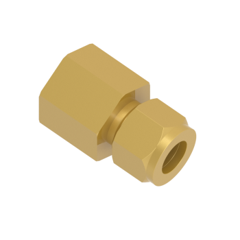 CFC-20M-12R-BRAS Female Connector Tube To Female