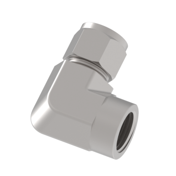 CLF8-4N-S316 Female Elbow Tube To Female