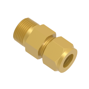 CMC-25M-12R-BRAS Male Connector Tube To Male
