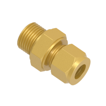 CMC-10M-6G-BRAS Male Connector For Bonded Washer Seal