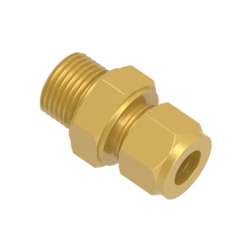 COM-12M-8G-BRAS Male Connector For Metal Gasket Seal