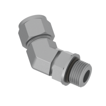 CSLB8-8U-STEL Sae Ms 45 Degmale Elbow Adjustable