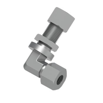 DBL-10S-STEL Din 2353 Bulkhead Union Elbow